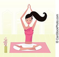 Beautiful pregnant woman - Girl having healthy lifestyle:...