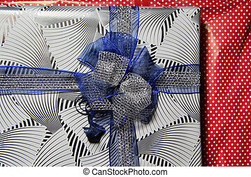 Beautiful present box with the bow