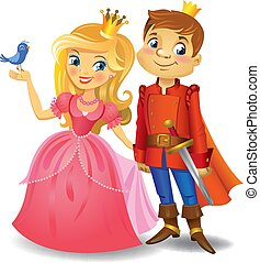 Beautiful princess and prince