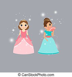 Beautiful princess characters