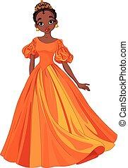 Beautiful Princess - Illustration of beautiful African...