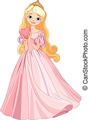 Beautiful princess - Illustration of beautiful princess...