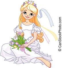 Beautiful princess - Illustration of beautiful princess...