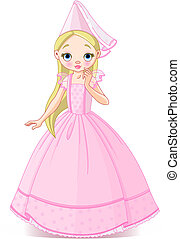Vector very cute and beautiful little princess
