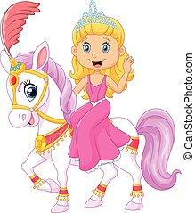 Beautiful princess with circus