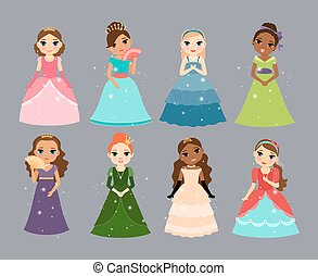 Beautiful princesses.