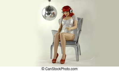 beautiful professional gogo dancer, Anda Cristescu studio shoot