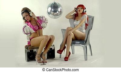 beautiful professional gogo dancing sisters