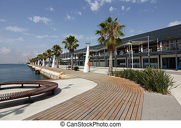 beautiful promenade in the city of Alicante Spain