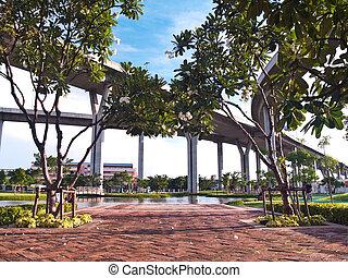 Beautiful public park