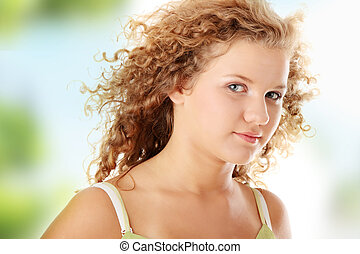 Beautiful pudgy girl - Beautiful teen pudgy caucasian girl