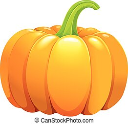 Beautiful pumpkin without leafes
