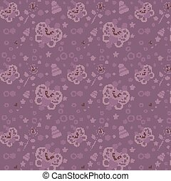 Beautiful purple background with butterfly on it. Vector