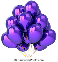 Beautiful purple helium balloons - Party balloons colored...