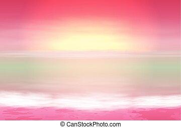 Beautiful purple sea sunset