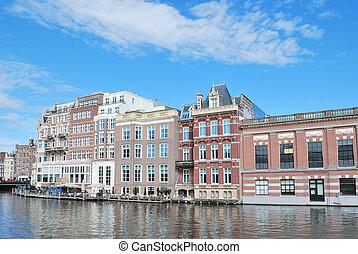 Beautiful quay in Amsterdam