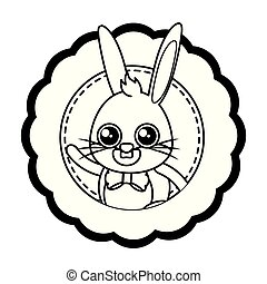 beautiful rabbit easter character