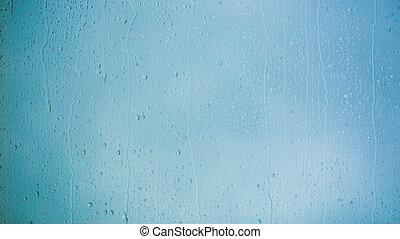 Beautiful Rain Drops running down