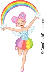 Beautiful Rainbow Fairy