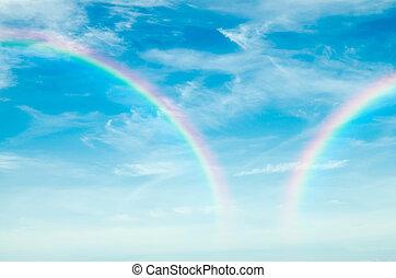 beautiful rainbow in the sky