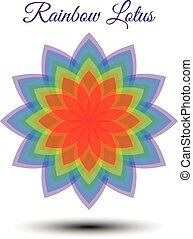 Beautiful rainbow lotus flower