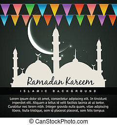 beautiful ramadan kareem background