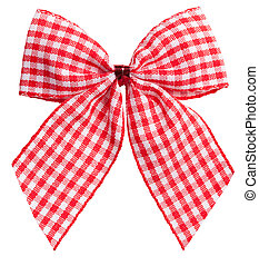 Beautiful red bow on white
