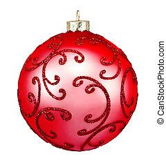 Beautiful red christmas ball