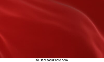 Beautiful Red Cloth Waving in the Wind and Flying Away Opening Background. Abstract Wavy Silk Textile Transition 3d Animation with Alpha Mask Green Screen. 4k Ultra HD