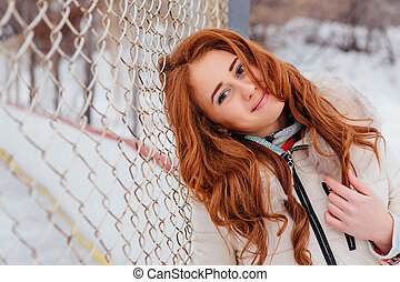 Beautiful red hair girl.