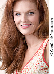 Beautiful red head - Close up of beautiful long red hair ...