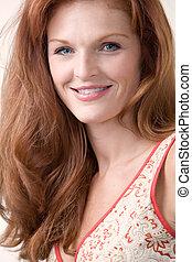 Beautiful red head - Close up of beautiful long red hair...