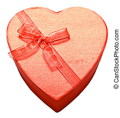 red heart - Beautiful red heart on white background. ...