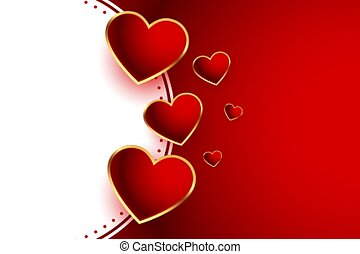 beautiful red hearts valentines day background