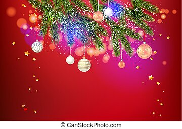 Beautiful red holiday template - Red festive background...