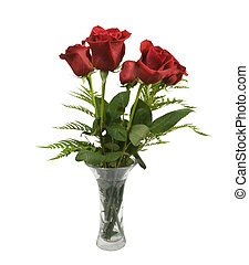 beautiful red roses in a vase