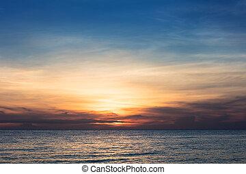 beautiful red sunset