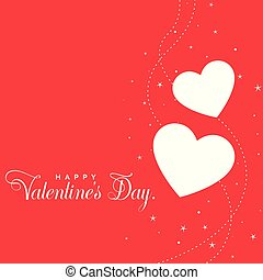 beautiful red valentines day hearts background