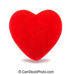 beautiful red velvet heart