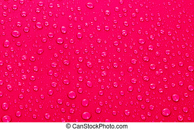 Beautiful red water drops background
