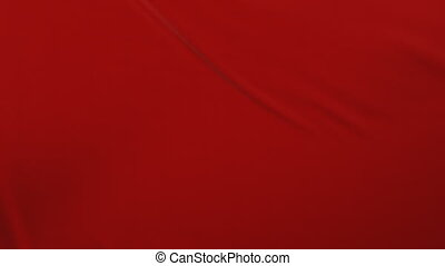 Beautiful Red Waving Cloth Flying Away Opening the Background. Looped 3d Animation with Alpha Matte. Abstract Wavy Silk Fabric Surface Motion Revealing the Screen. 4k Ultra HD