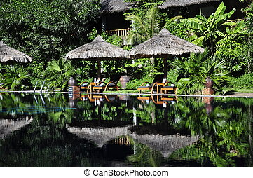 Resort Pool - Beautiful reflection at Resort Pool in Hue
