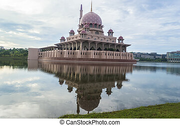 Beautiful reflection of Putra Mosque