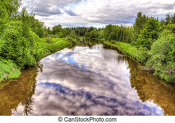 Beautiful reflections in the river