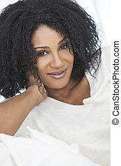 Beautiful Relaxed African American Woman