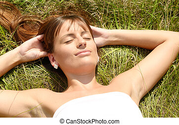 relaxing woman