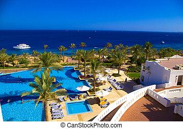 Beautiful resort beach - Beautiful resort seashore