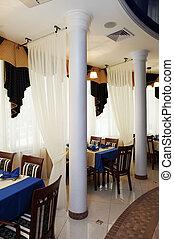 restaurant with columns