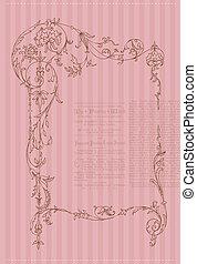Beautiful Retro Card - for invitation, greetings, congratulation, wedding
