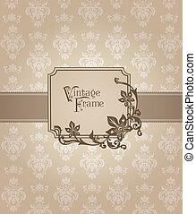 Beautiful Retro Card - for invitation, greetings, congratulation, wedding in vector